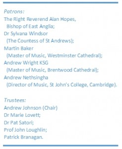 Music and Organ Trustees and Patrons