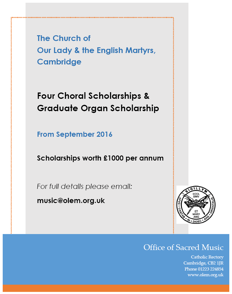 Vacancies: Choral Scholars