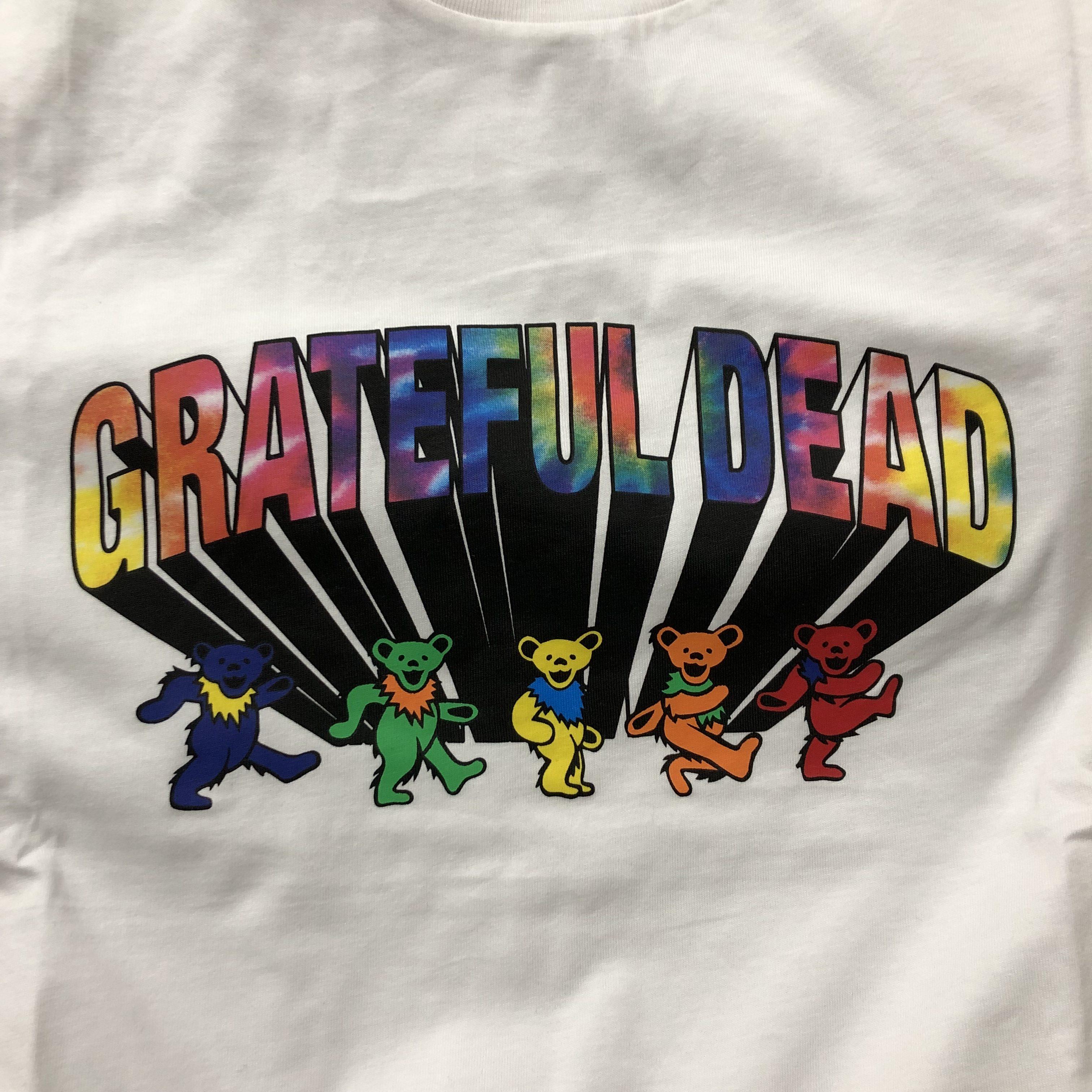 グレイトフルデッドTシャツ胸プリント