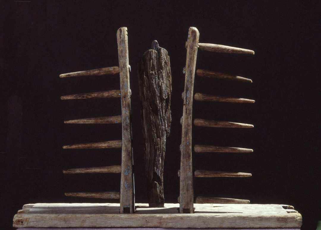 Rivemanden / The Rake Man træ / wood h. 20 cm, 1994