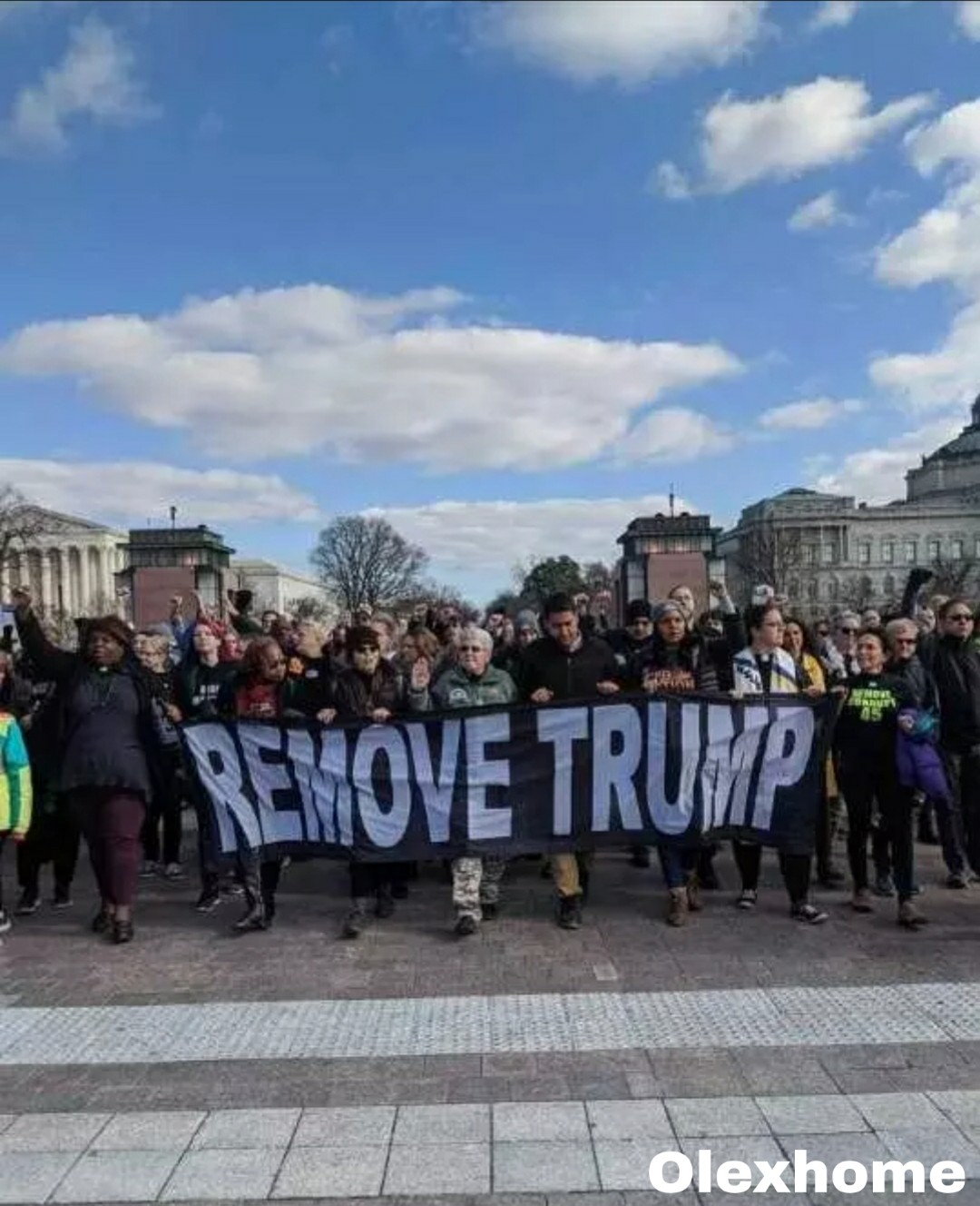 Protesters want Trump Removed as president