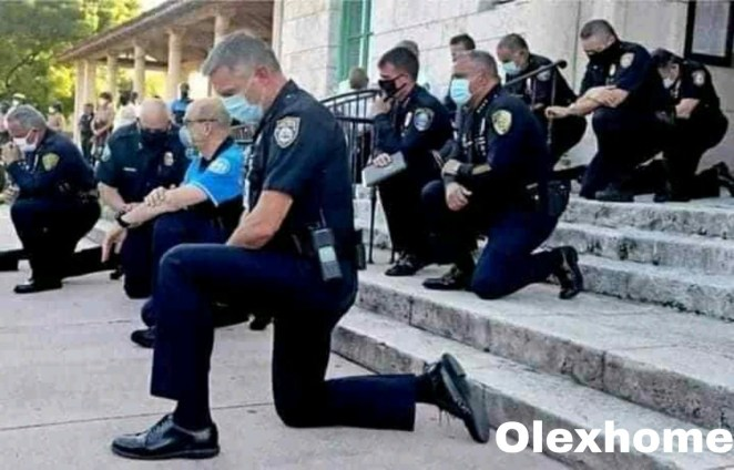 US police bow to pressure and beg protesters