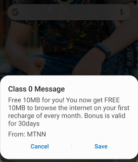 MTN Free 120MB Valid For 30days