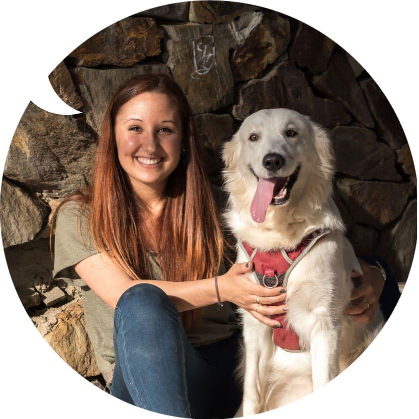 Alba Fernández y su perro Jack