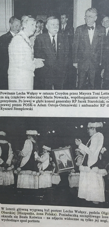 Olga Calado portrait of Lech Walesa