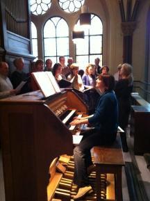 Repetitie met kamerkoor Oktoich- Gretsjaninov-Amsterdam, 28.04.2012-Foto Saskia Fonds