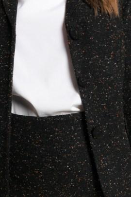 """Черный пиджак """"меланж"""""""