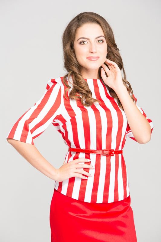 Женская блуза в полоску