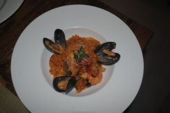 ala-Italian Seafood risotto with Korean red hot pepper
