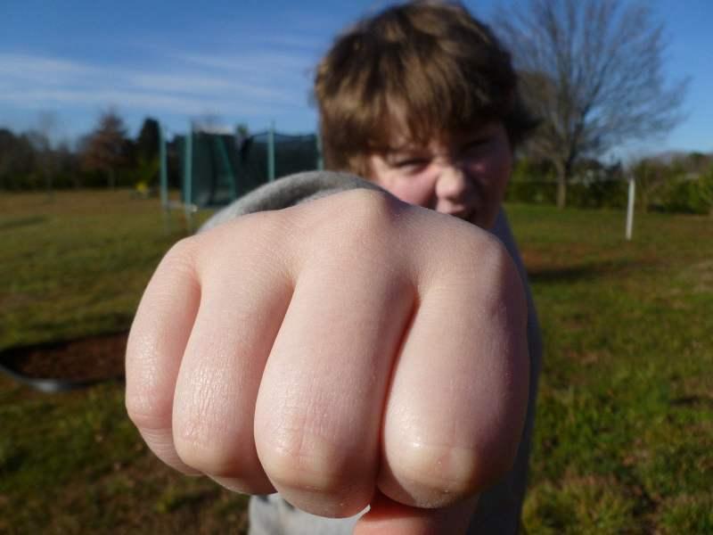 fist bump, boy, outside