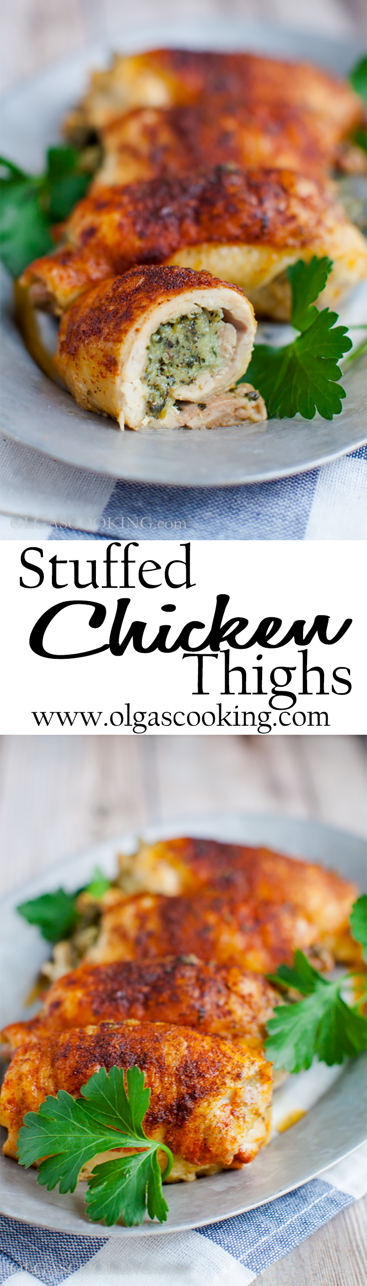 Stuffed Chicken Thighs