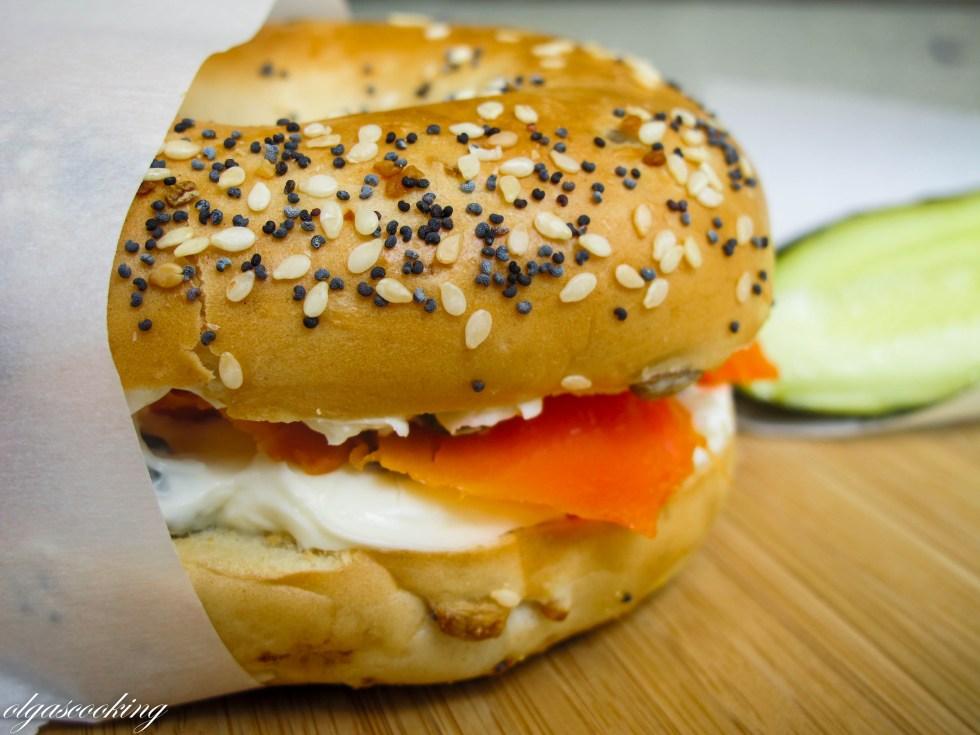 Smoked Salmon & Caper Sandwich