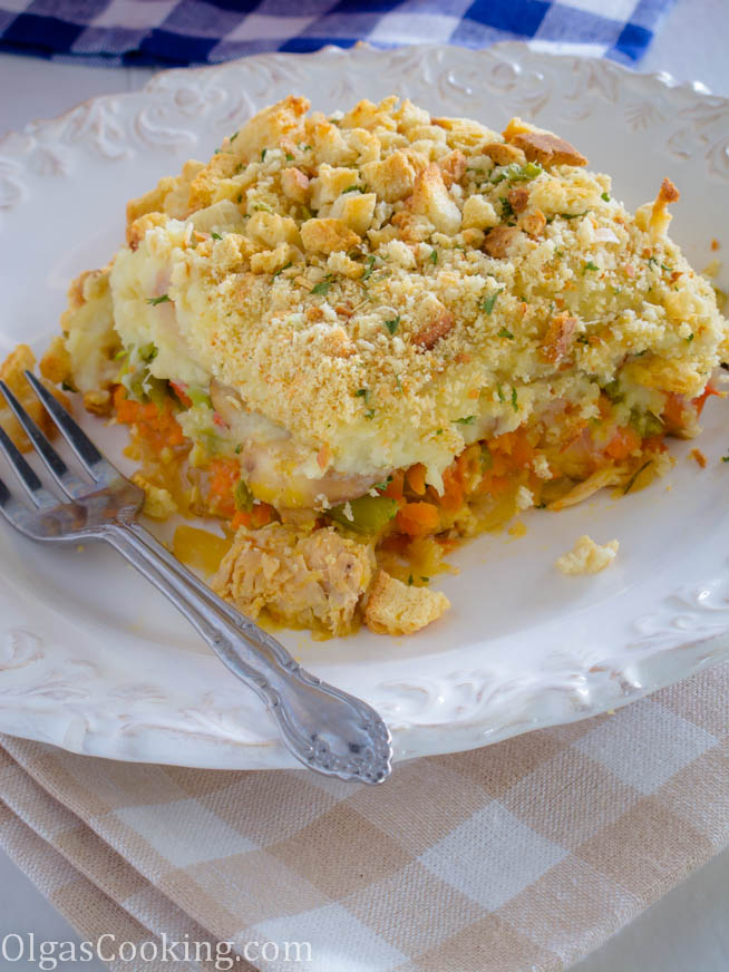 leftover turkey and mashed potato casserole