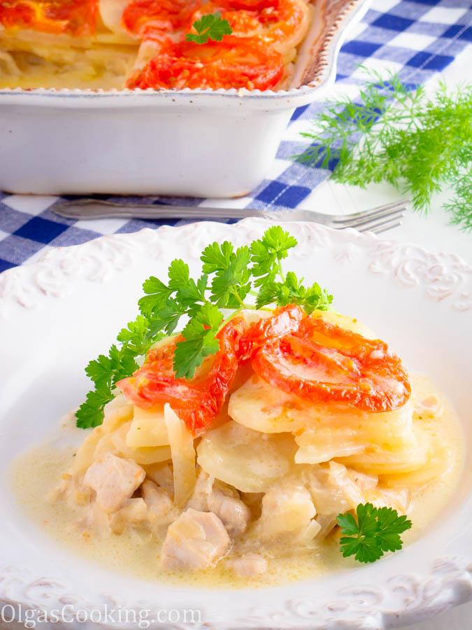 Sliced Potato Casserole