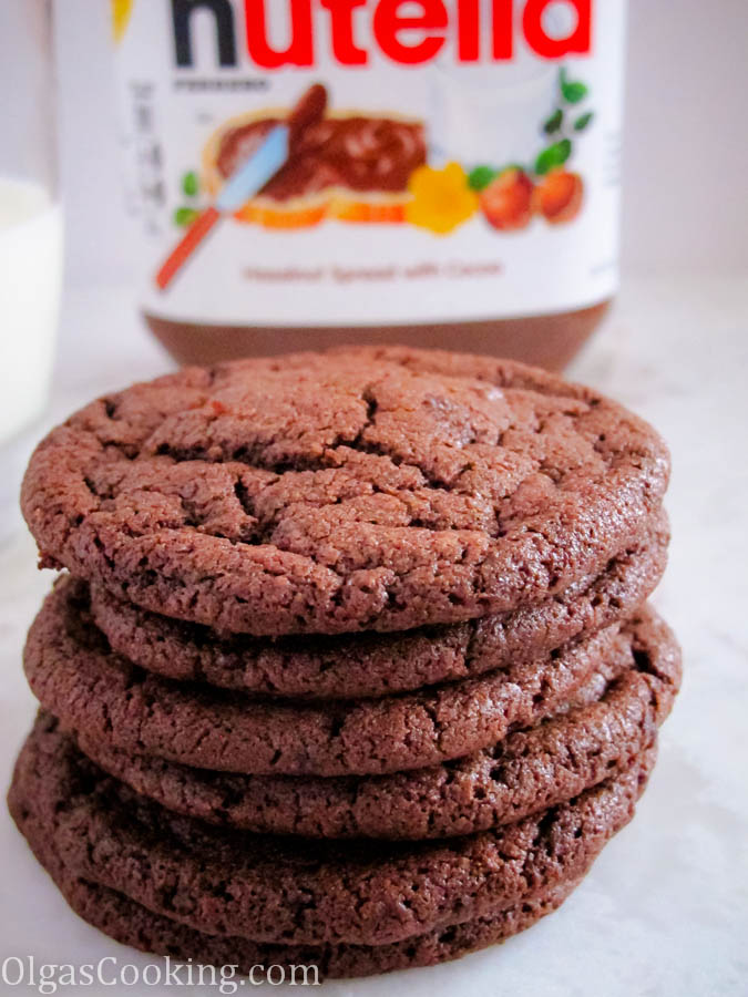 chocolate nutella cookies easy to make chocolate goodness