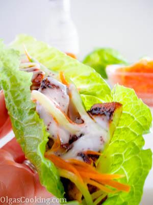 delicious and healthy chicken lettuce wraps recipe