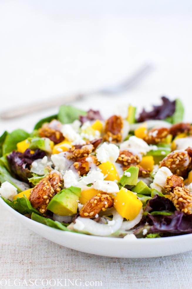 Spring Mix Mango Salad
