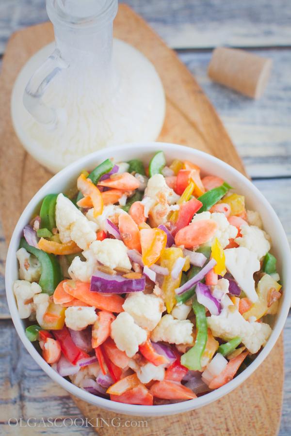 cauliflower bell pepepr salad-10