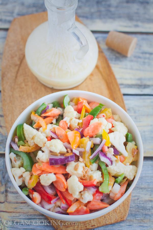 cauliflower bell pepepr salad-11
