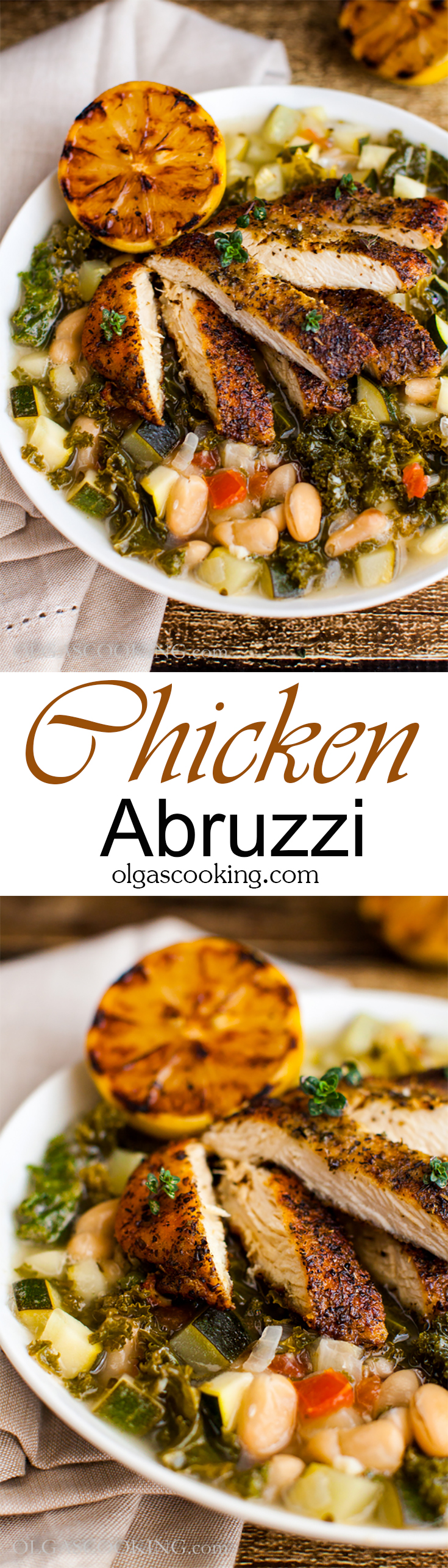 Olive Garden copycat Chicken Abruzzi recipe. Healthy and delish!