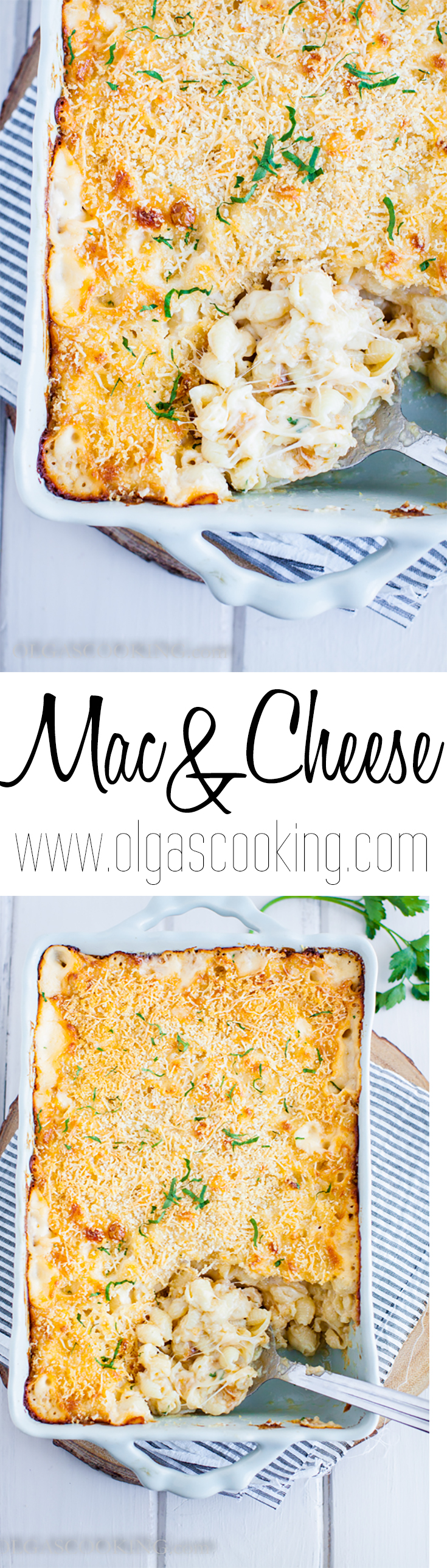 Mac and Cheese recipe with homemade Alfredo sauce. To die for!