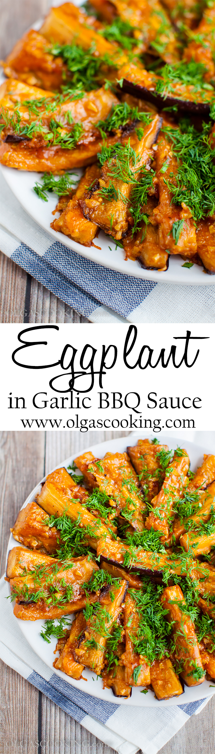 Eggplant in Garlic BBQ Sauce