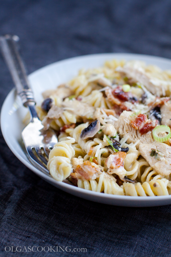 Rotini with Chicken and Mushroom Sauce