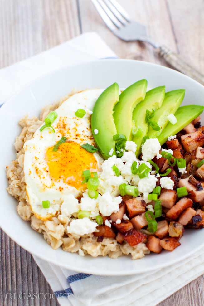 Savory Oatmeal with Eggs