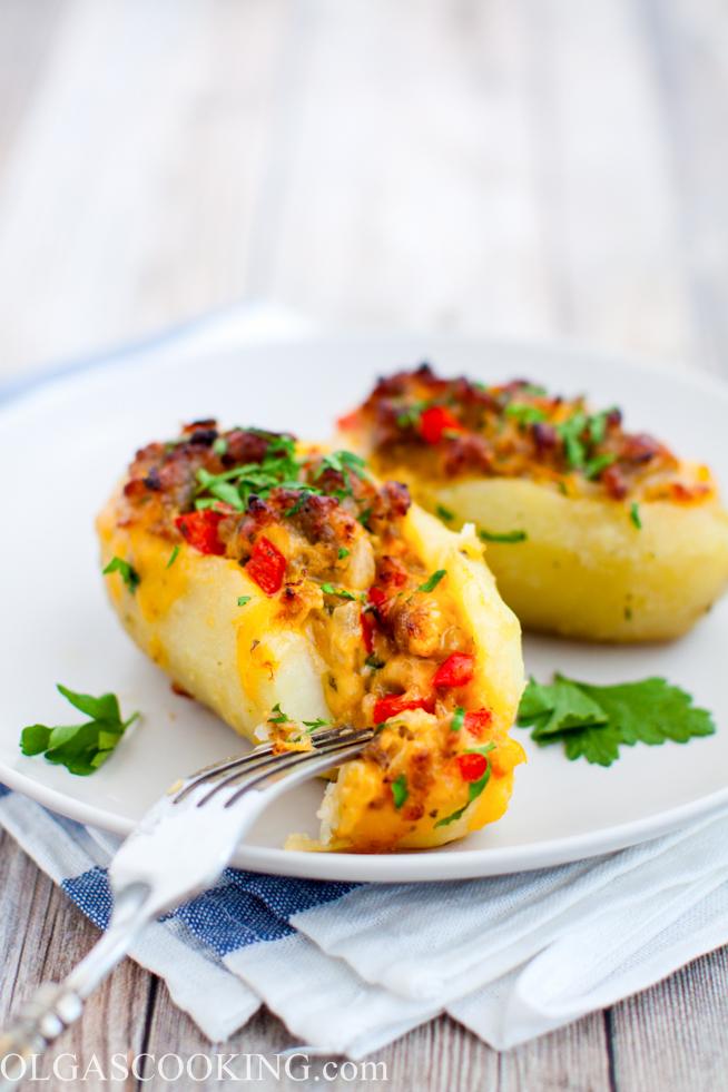Sausage Stuffed Potatoes