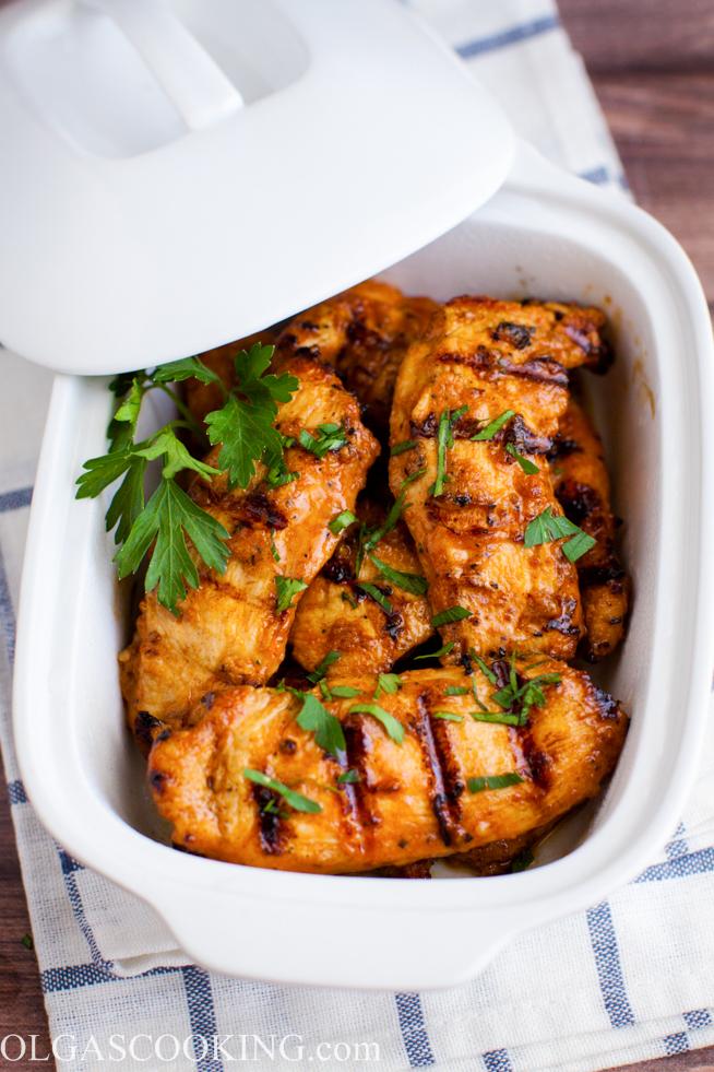 grilled chicken strips