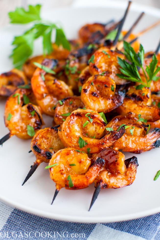 Honey Barbecue Grilled Shrimp