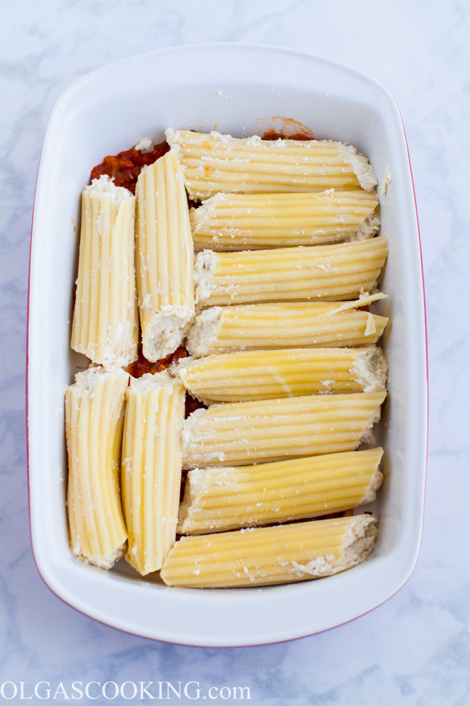 Chicken Stuffed Manicotti
