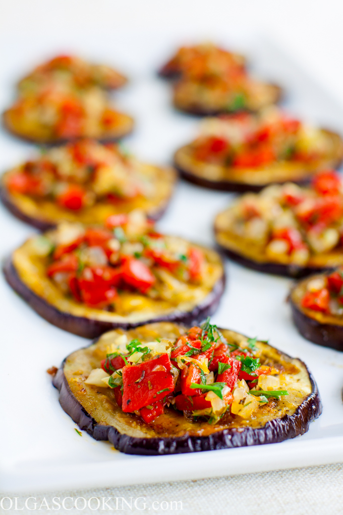 Grilled Eggplant and Bell Pepper Salad