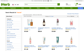 iHerb search results page