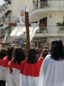 The end of the procession