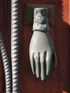 Hand knockers are a common sight