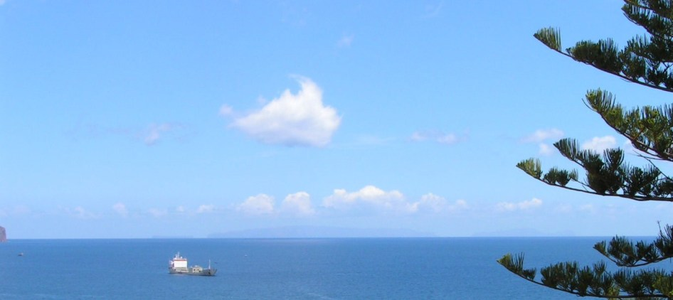 Freighter leaving Funchal
