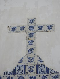 Close up of the cross