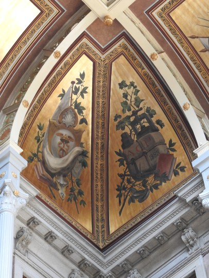 Paintings on the lower part of the dome