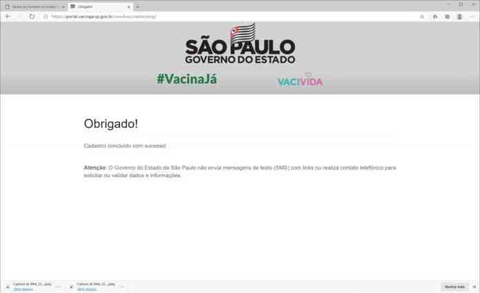 Como se cadastrar para a receber a vacina contra Covid-19 em São Paulo - Passo 5
