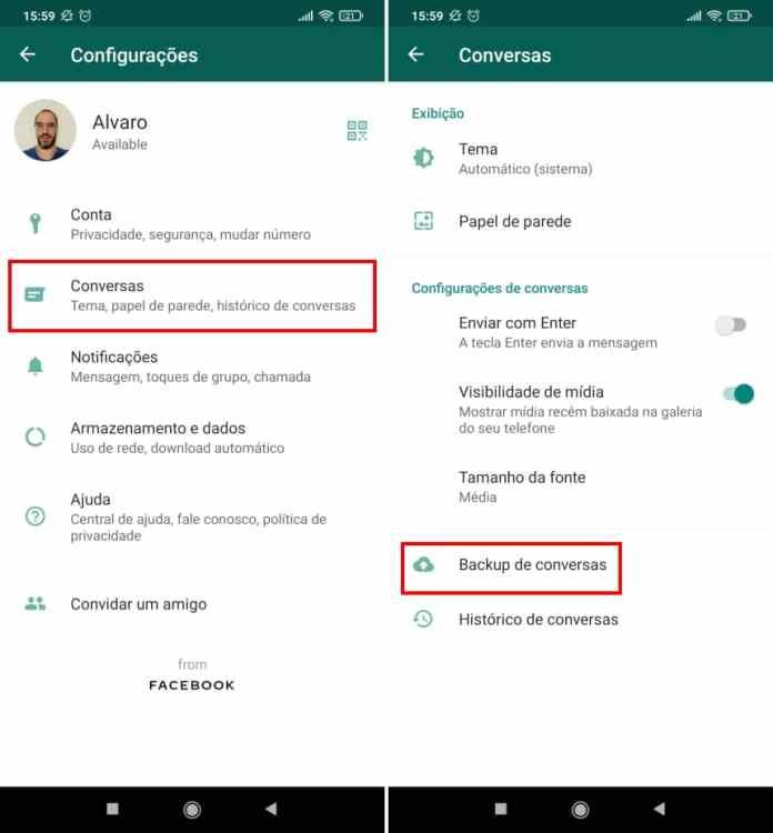 Como fazer uma cópia de segurança das figurinhas do WhatsApp - Passo 5