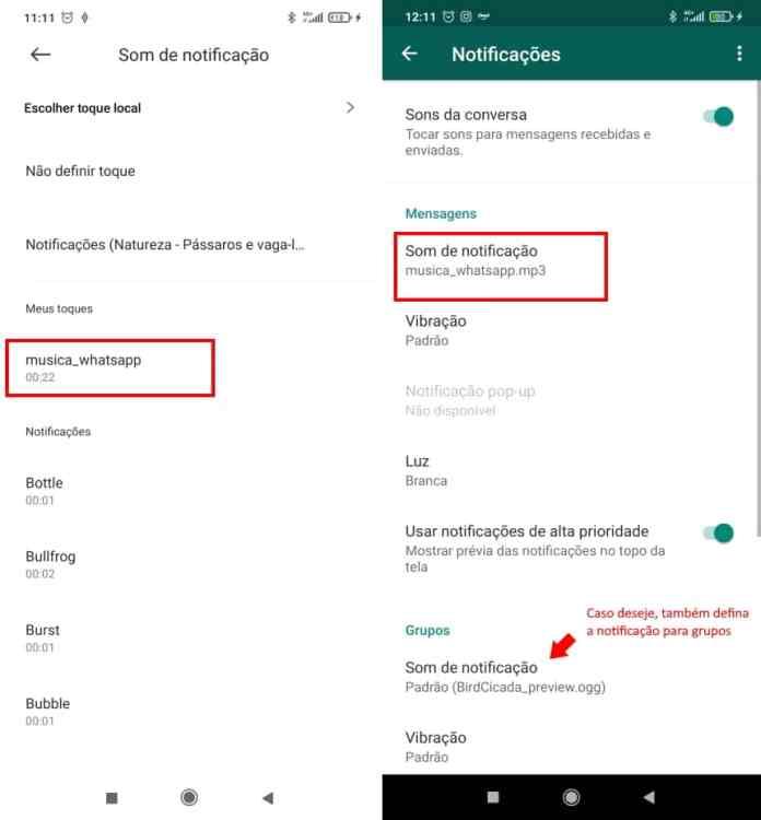 Como colocar uma música para notificações do WhatsApp no Android - Passo 6