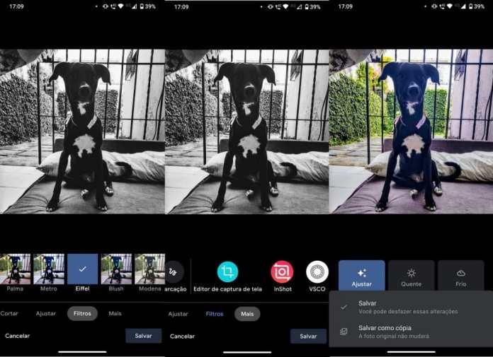 Fotos podem ser salvas como novas imagens