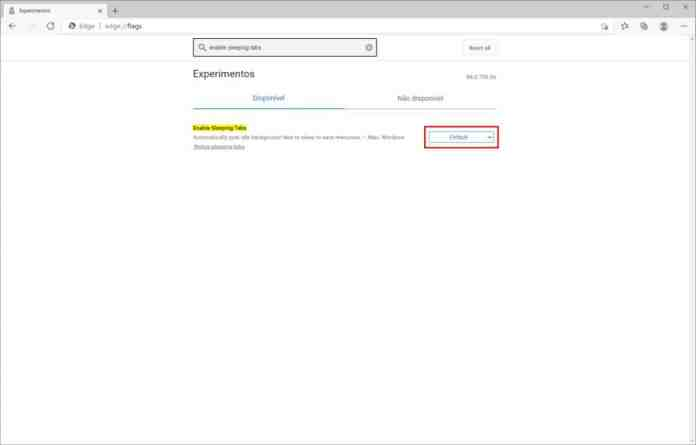 Como ativar o recurso de guias inativas do Microsoft Edge - Passo 3