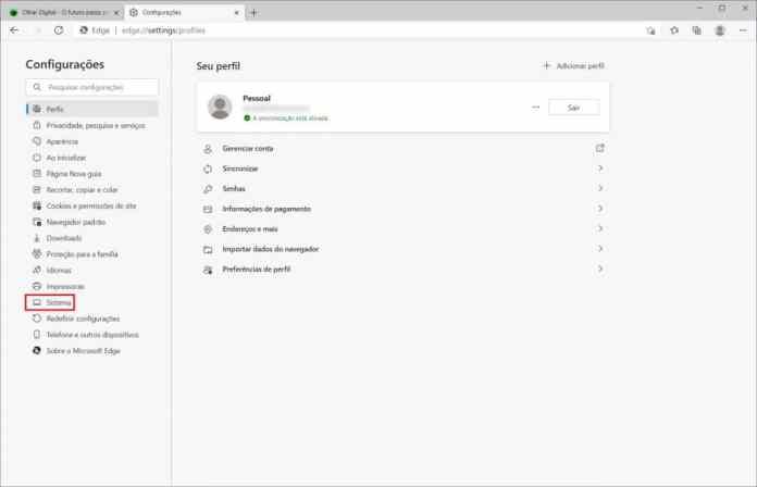 Como ativar o recurso de guias inativas do Microsoft Edge - Passo 8