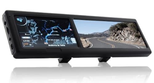 Espelho retrovisor com GPS