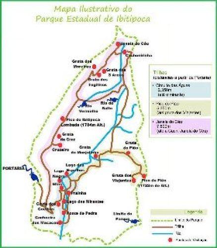 Mapa Ilustrativo do Parque Estadual do Ibitipoca