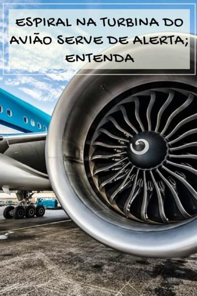 Já reparou que de uns cinco, seis anos para cá os aviões estão com uma espiral no motor do avião? Pois é, essa espiral é um alerta, entenda como!