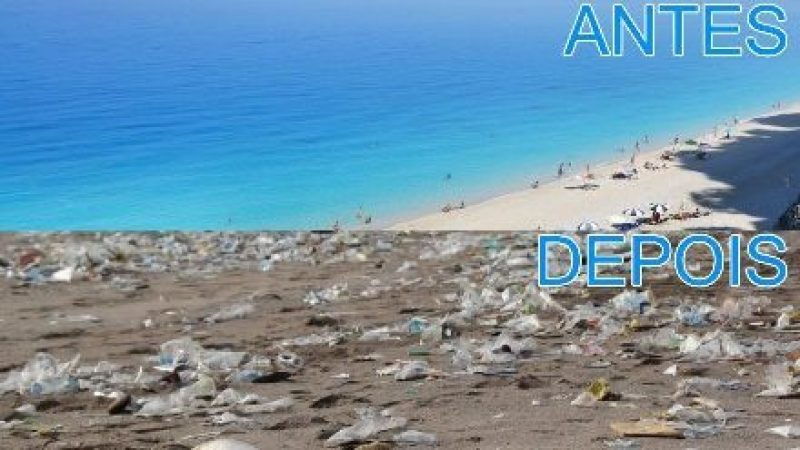 Por causa dos plásticos nos oceanos o futuro das praias está em risco.
