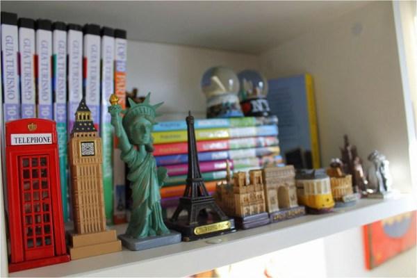 Decoração para viajantes: souvenir de miniaturas de lugares